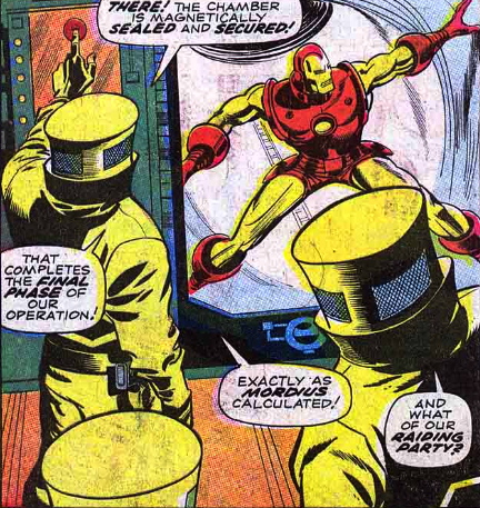 Iron Man captured by AIM in Iron Man #205