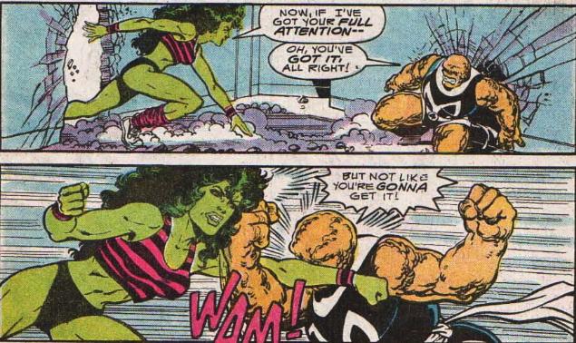 she-thing vs. she-hulk