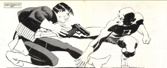 PUNISHER AND DAREDEVIL by John Romita Jr.