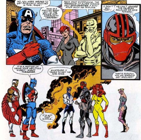 new warriors meet rage avengers