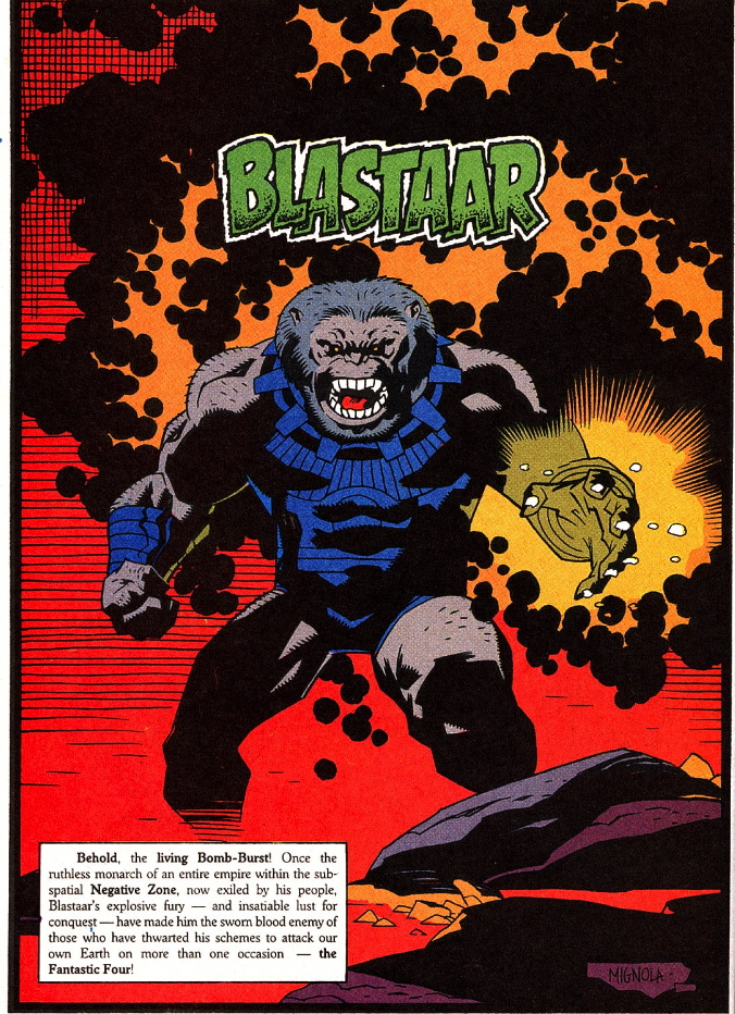 blastaar by Mike Mignola