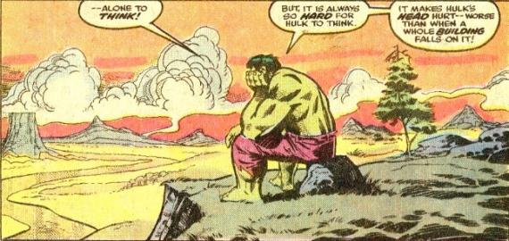 hulk thinking