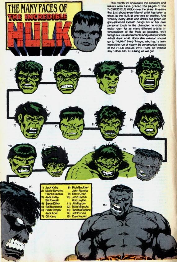 the many faces of hulk