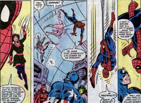 the first time spider-man was on the avengers