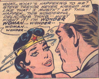 dizzy kissing wonder woman