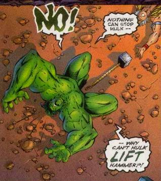 hulk can't lift thor's hammer