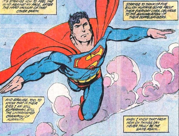 the last byrne superman panel