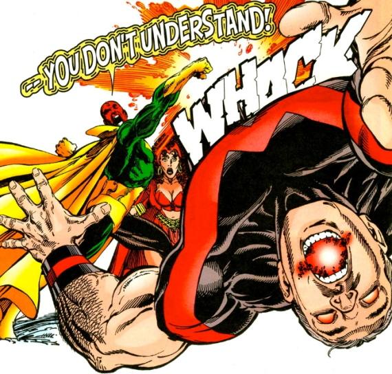 vision punches wonder-man