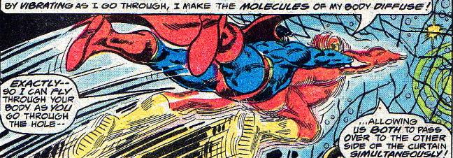 superman vibrates through flash