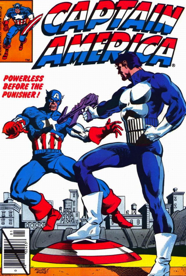 captain america meets punisher
