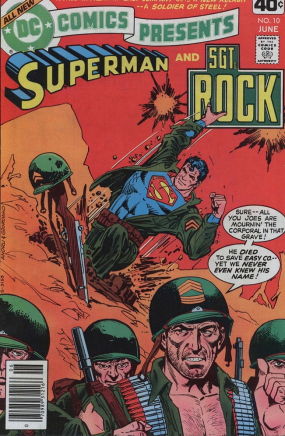 dc comics presents sgt rock superman