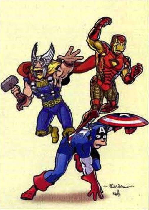 Avengers by Bill Morrison of Simpson's Comics