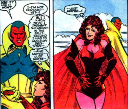 scarlet witch conceives of the babies