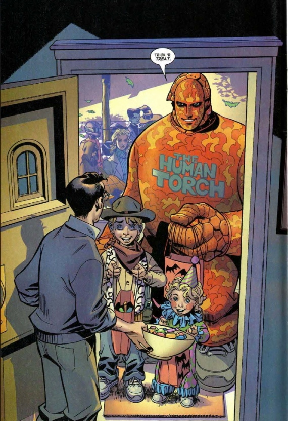 thing cosplays human torch