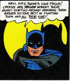 batman says criminals are yellow