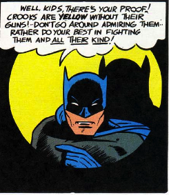batman says criminals are yellow