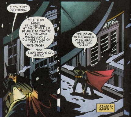 batman and superman on rooftop