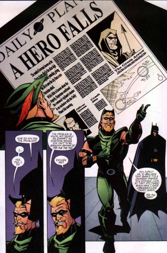 5 Panels From A Great Comic Kevin Smiths Green Arrow Berkeley Place