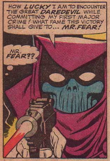 FIRST APPEARANCE OF MR FEAR