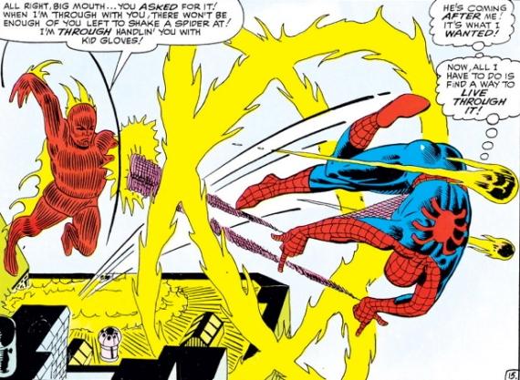 spider-man vs. human torch