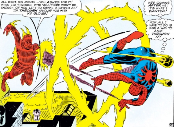 spider-man vs. human torch