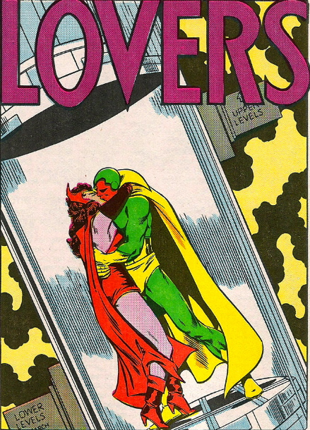 vision and scarlet witch kissing