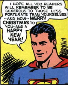 superman merry christmas