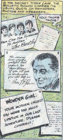 The Teen Titans' Bulletin Board