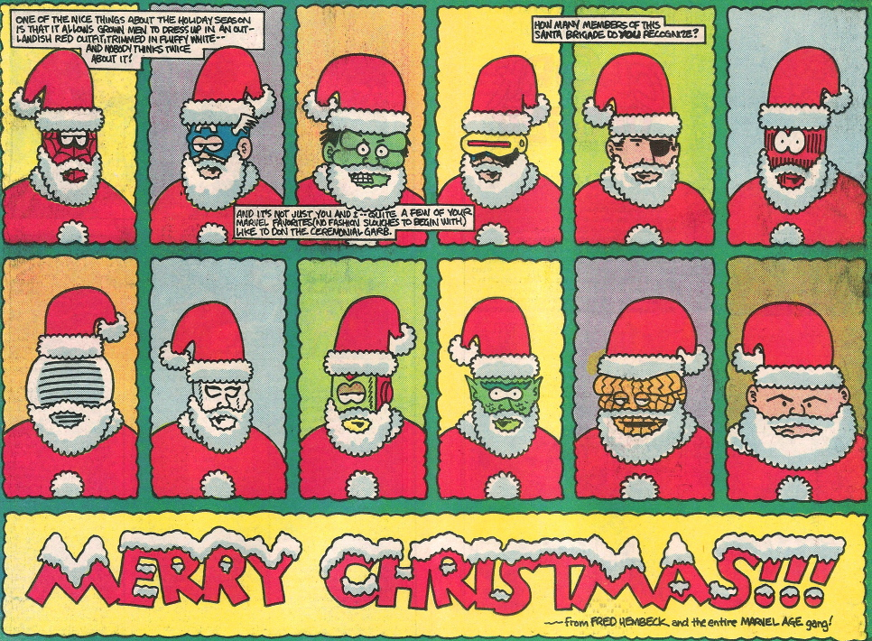 hembeck marvel christmas