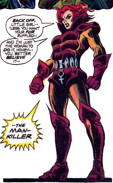 1st appearance man-killer dangling cock symbol