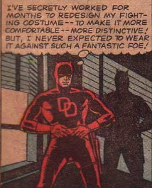 first appearance daredevil red costume