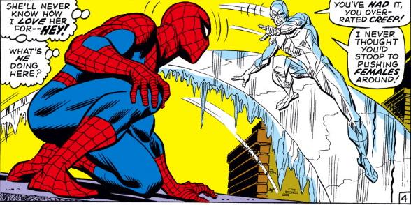 AMAZING SPIDER-MAN #92 versus iceman