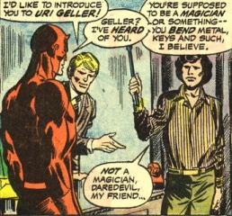 Daredevil meets Uri Gellar