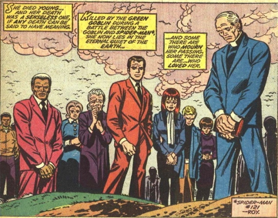 gwen stacy's funeral