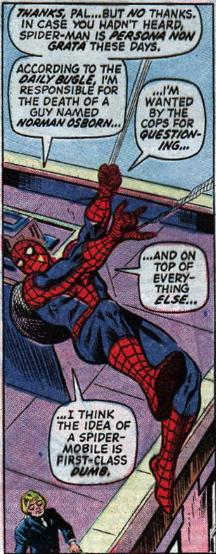 AMAZING SPIDER-MAN #126 first spider mobile
