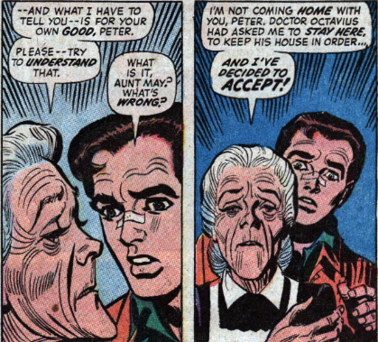 aunt may moves in with doctor octopus